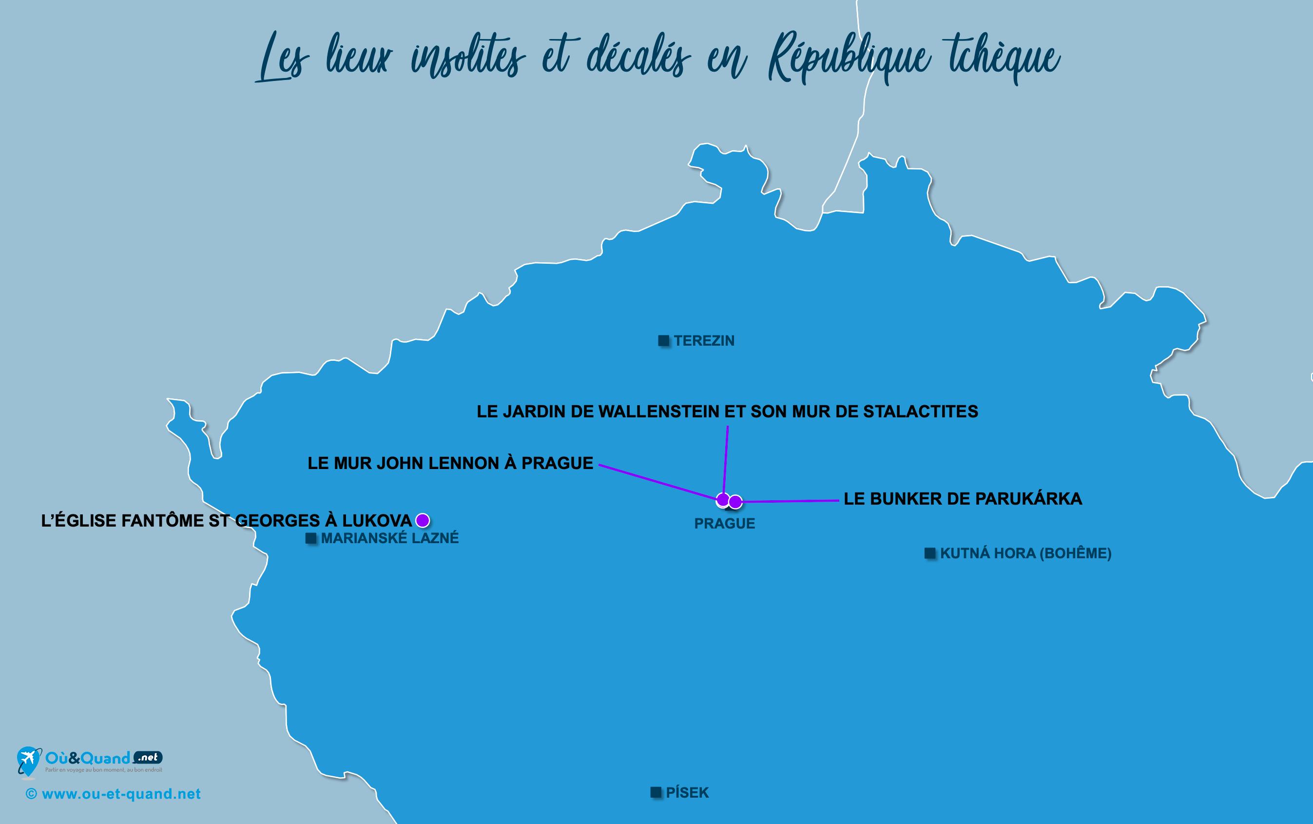 Carte République tchèque : La République tchèque insolite