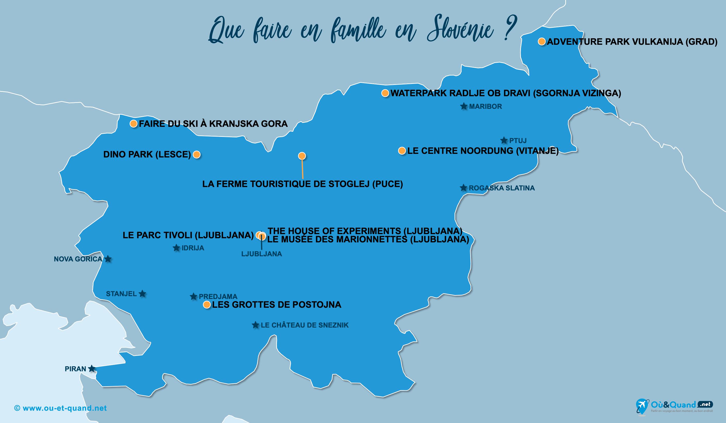 Carte Slovénie : La Slovénie en famille