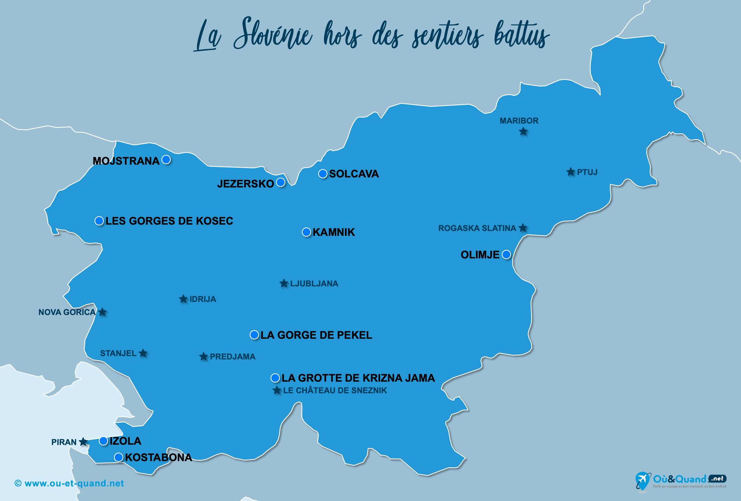 Carte Slovénie : La Slovénie hors des sentiers battus