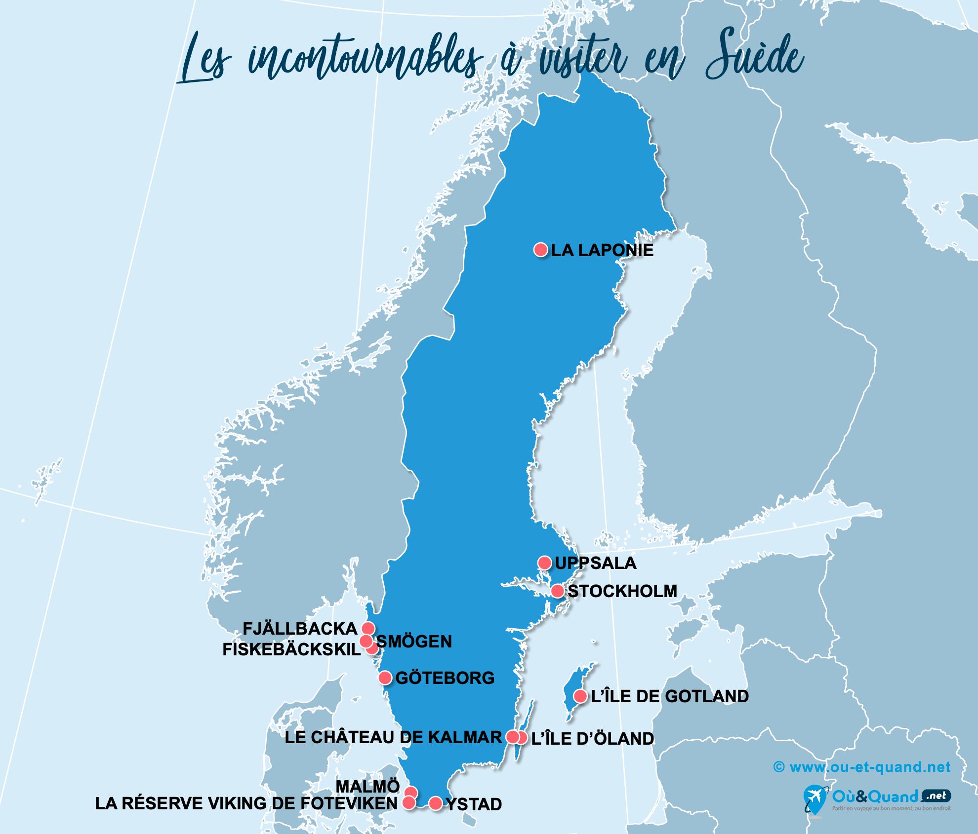 Carte Incontournables Suède