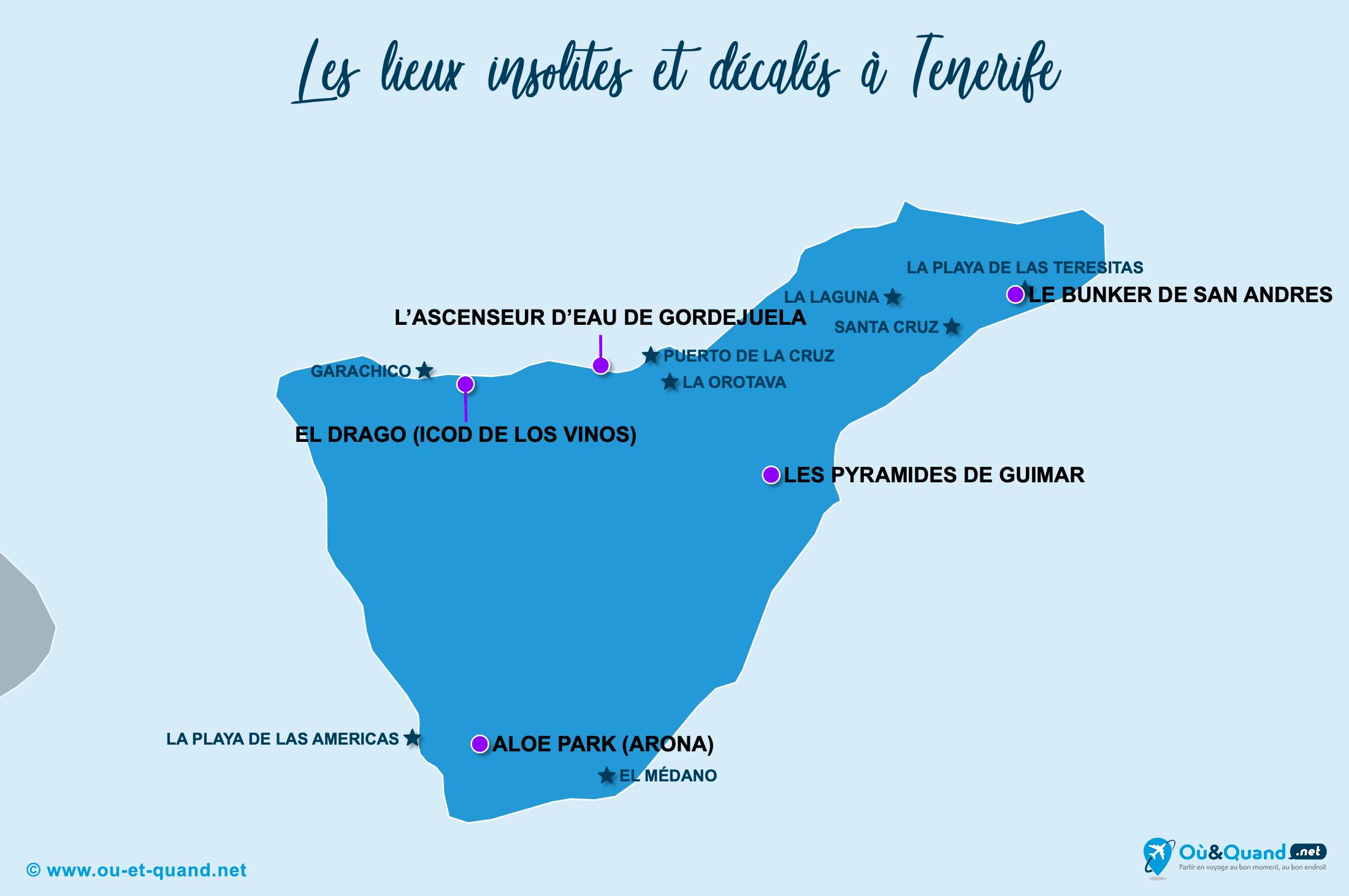 Carte Tenerife : Tenerife insolite