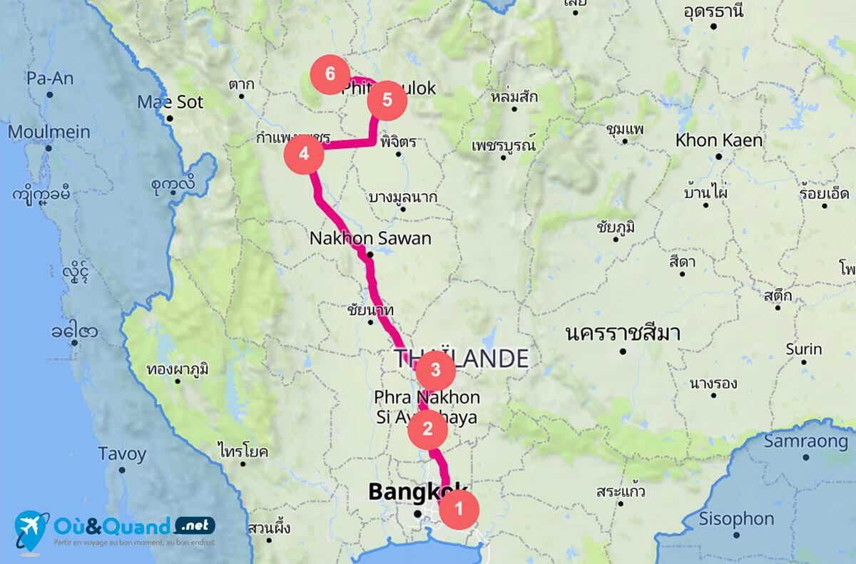 Itinéraire de 10 jours en Thaïlande : Bangkok et les anciens royaumes du centre