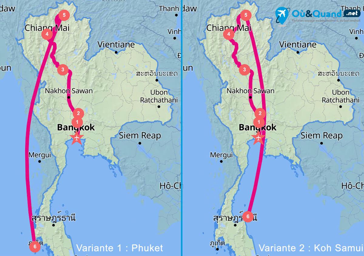 Itinéraire de 15 jours en Thaïlande : Nord et les îles