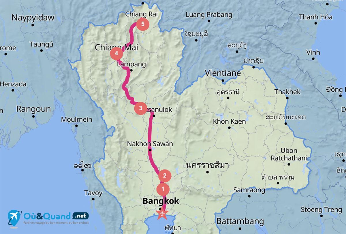 Itinéraire de 10 jours en Thaïlande : le nord