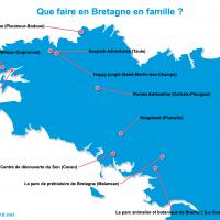 Carte Bretagne : La Bretagne en famille