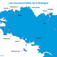 Carte Bretagne : Les lieux incontournables en Bretagne