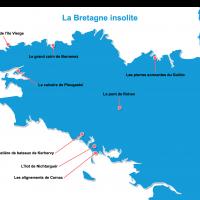 Carte Bretagne : La Bretagne insolite