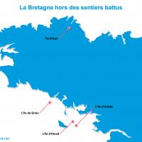 Carte Bretagne : La Bretagne hors des sentiers battus