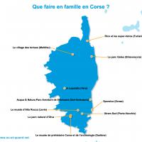 Carte Corse : La Corse en famille