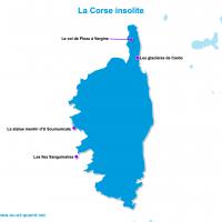 Carte Corse : La Corse insolite