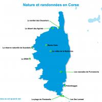 Carte Corse : Les plus beaux paysages de la Corse