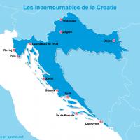 Carte Croatie : Les lieux incontournables en Croatie