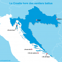 Carte Croatie : La Croatie en dehors des sentiers battus
