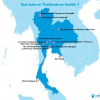Carte : La Thaïlande en famille