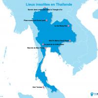 Carte Thaïlande : La Thaïlande insolite