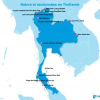 Carte : La Thaïlande 100% nature et randonnées