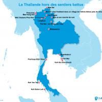 Carte : La Thaïlande en dehors des sentiers battus