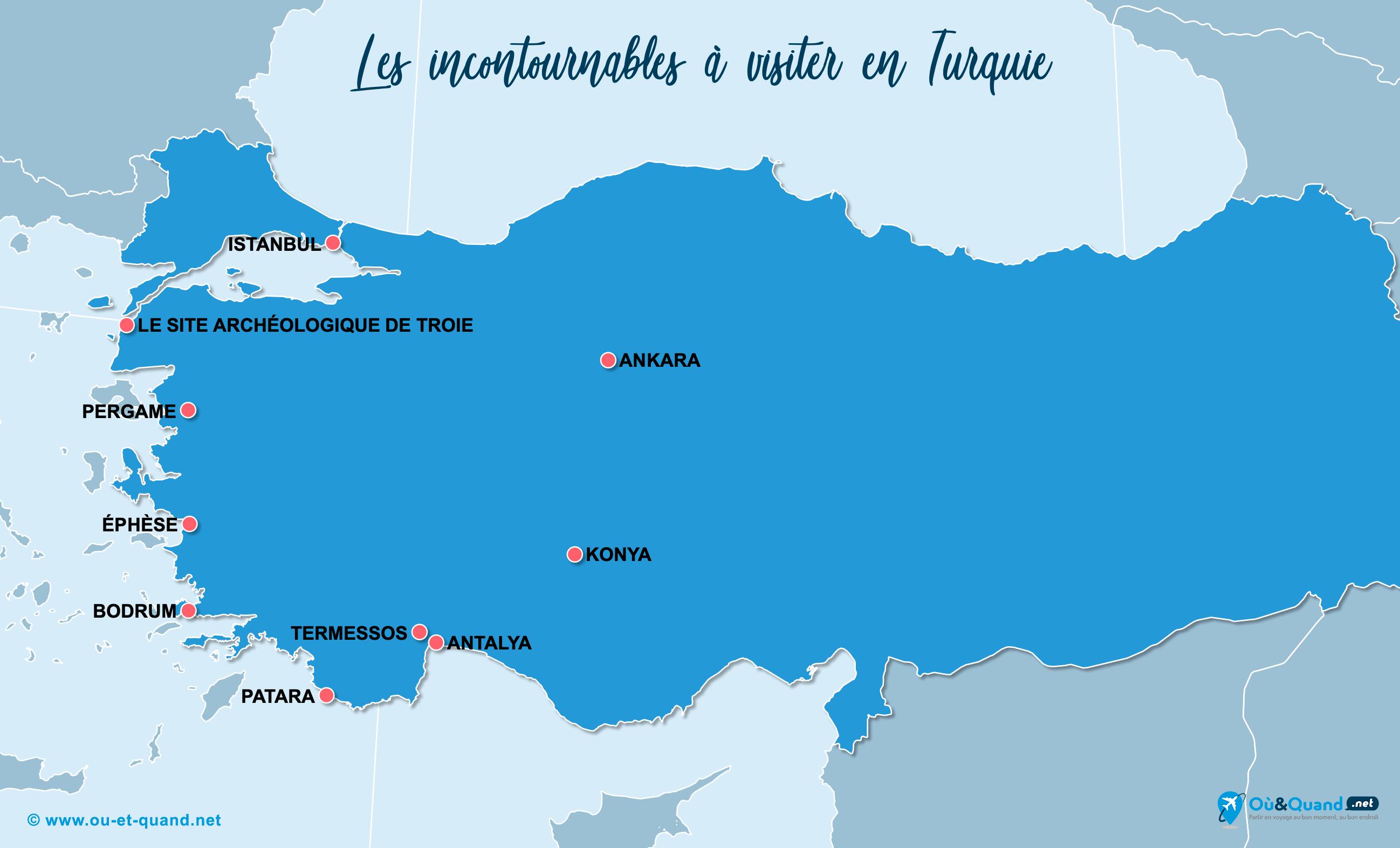 Carte Incontournables Turquie