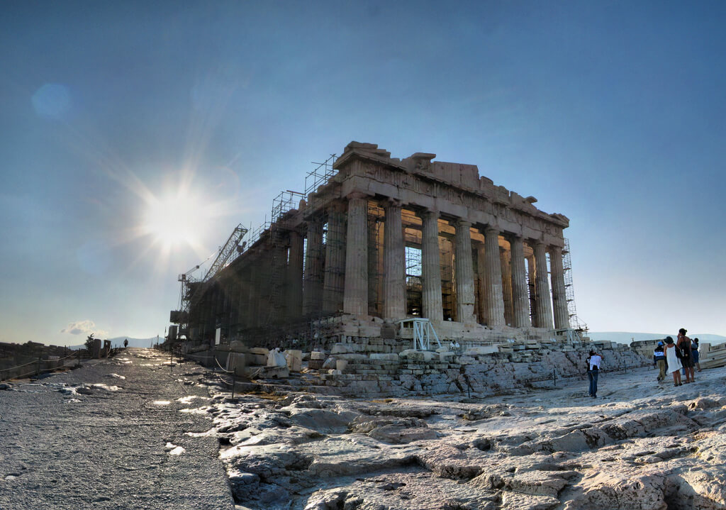 Athènes : Athènes - Acropole - Parthénon - 11-08-2008 - 8h17