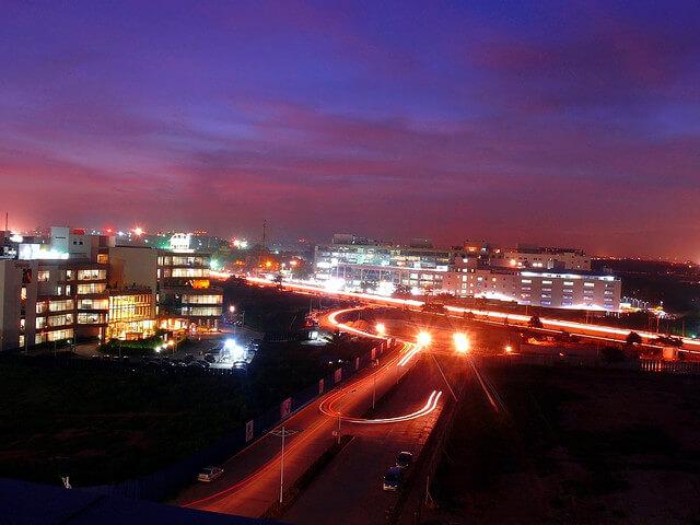 Bangalore  - Karnataka : view of outer ring road, Bangalore