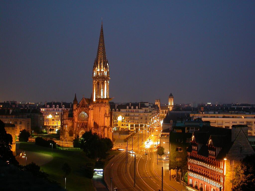 Caen (Calvados) : Caen by night