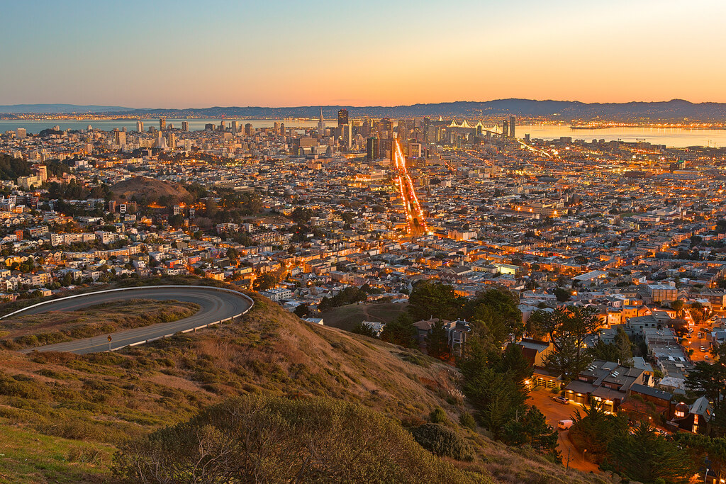 Californie : San Francisco Sunrise - HDR