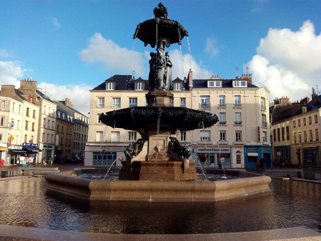 Cherbourg-Octeville (Cotentin) : Fontaine Mouchel, Cherbourg