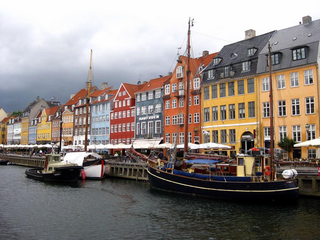 Copenhague : Nyhavn canal, Copenhagen