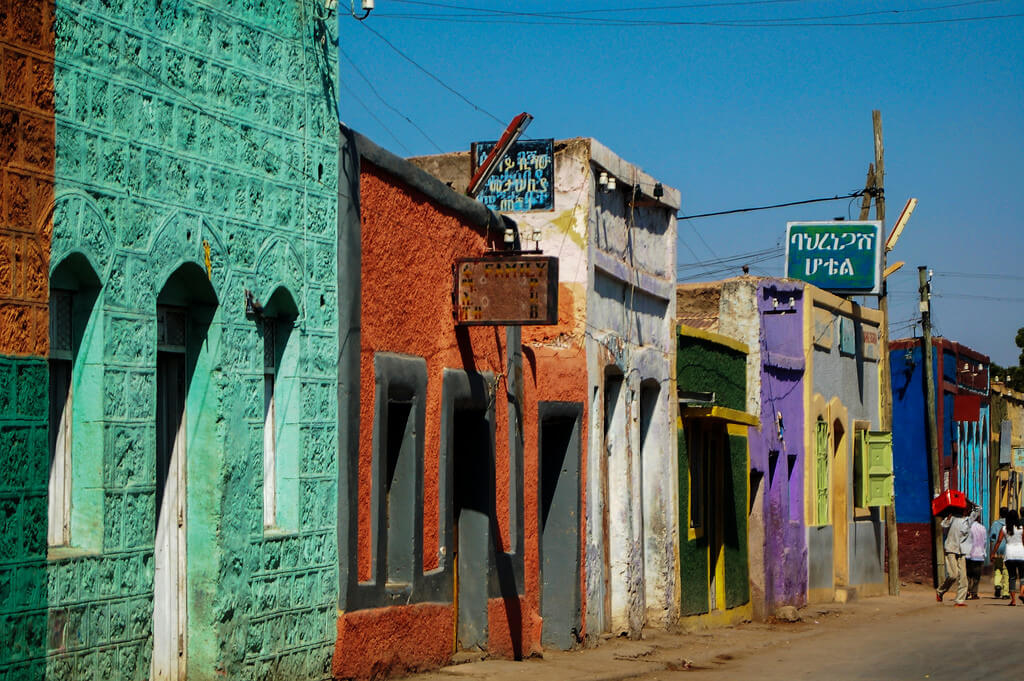 Éthiopie : Colourful street in Harar (Harari Region), Ethiopia