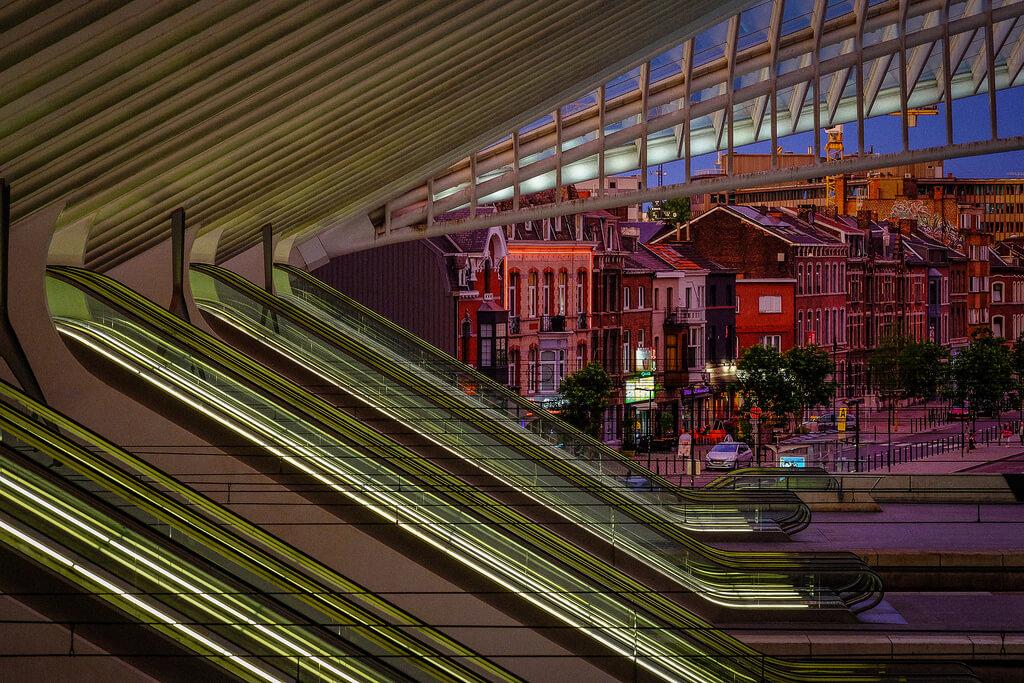 Liège : Escalators and Liege