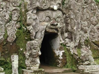 Photo de : La grotte de l'éléphant (Goa Gajah)