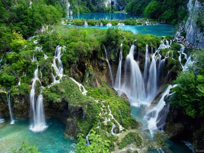 Photo de : Le parc national des lacs de Plitvice