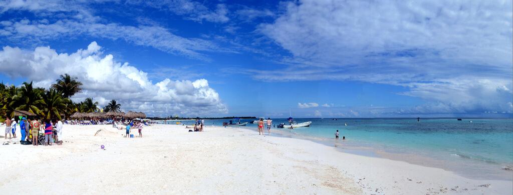 Riviera Maya : Xpu Ha beach Riviera Maya Mexico . Panorama. Nikon D3100.DSC_0704-0711.