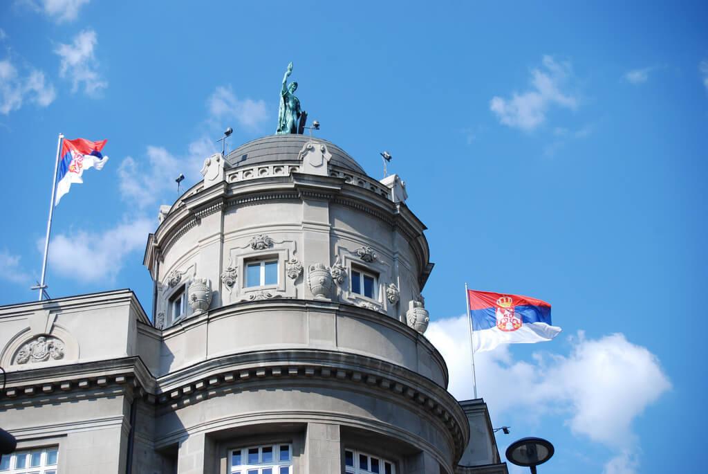 Serbie : Beograd, zgrada Zeleznice