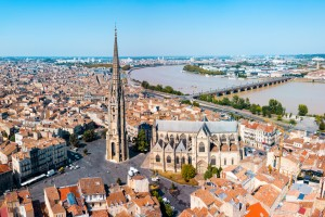 Bordeaux (Gironde) : Vue panoramique aérienne sur Bordeaux