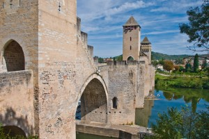 Cahors (Lot) : Pont Valentre, Cahors, Lot, France, Sept. 2008