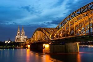 Cologne : Cologne blue hour