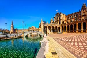 Espagne : La place d'Espagne de Séville
