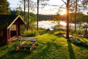 Finlande : Au bord d'un lac en Finlande