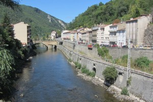Foix (Ariège) : River at Foix
