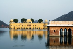 Rajasthan : Palace sunk in the lake, Jal Mahal, Jaipur, Rajasthan, India
