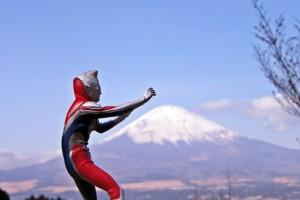 Japon : Ultraman + Mt. Fuji = JAPAN
