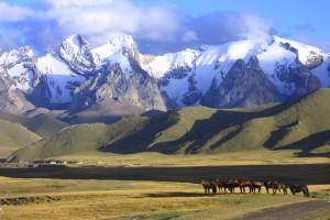 Kirghizistan : Paysage du Kirghizistan