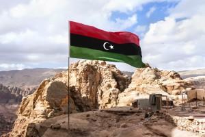 Libye : Drapeau de la république islamique de Libye