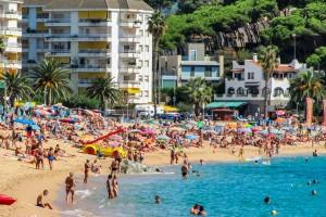 Lloret de Mar : Plage à Lloret de Mar en Espagne