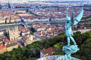 Lyon : Vue sur Lyon depuis Notre Dame de Fourviere