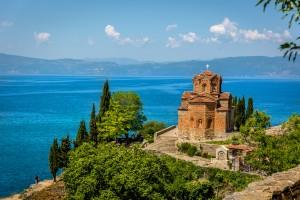 Macédoine du Nord : Une église orthodoxe à Ohrid