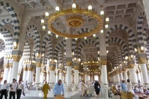 Médine : Plafond de la salle de prière du Haram ennabaoui