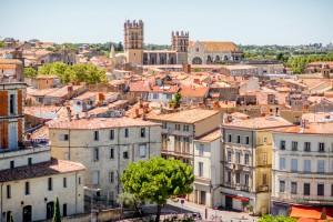 Montpellier (Hérault) : Vieille ville et cathédrale de Montpellier