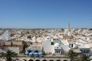 Nabeul : Vue d'une terrasse